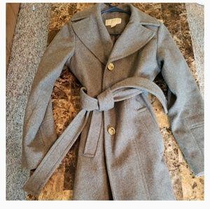 Michael Kors Grey Wool Pea Coat